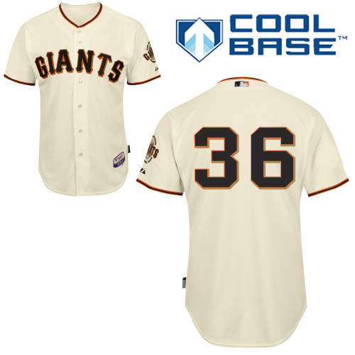 Men's | Cream Gaylord Perry Home Jersey - San Francisco Giants #36 Majestic MLB | Replica