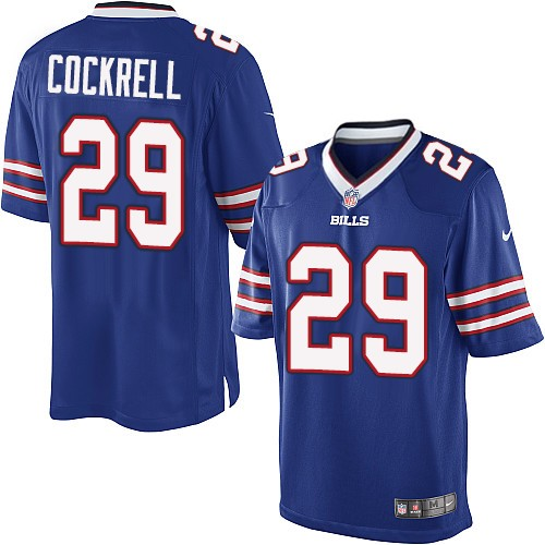 Youth | Nike NFL Buffalo Bills #29 Ross Cockrell Royal Blue Team Color Home Jersey | Elite