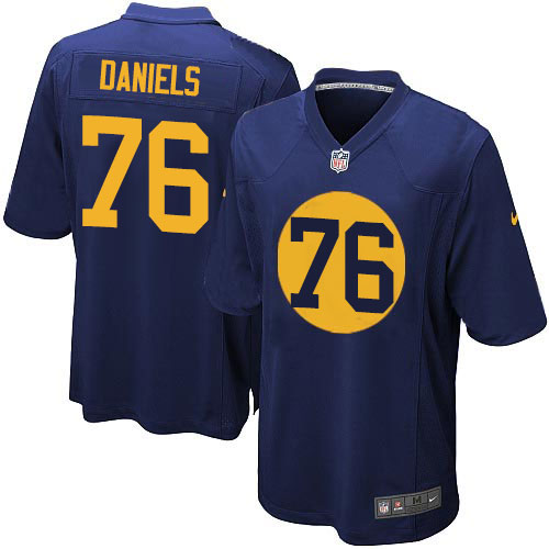 Men's | Nike NFL Green Bay Packers #76 Mike Daniels Navy Blue Alternate Jersey | Limited
