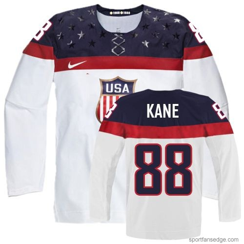 Women's | Nike Olympic Hockey Team USA #88 Patrick Kane White Home 2014 Jersey | Authentic